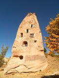Fairy Chimney in Cappadocia. A beautiful and unique fairy chimney in Cappadocia stock image