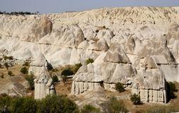 Fairy chimney geological rock formations in Love Valley,Turkey Royalty Free Stock Image