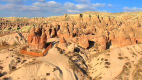 Fairy chimney. Rock formation in cappadocia, turkey stock footage