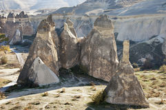 Fairy Chimney. The Fairy Chimney rock formations in Monks Valley (Pasabag) in Cappadocia Stock Images