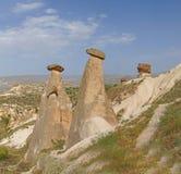 Fairy chimneys and balancing rocks Royalty Free Stock Photo