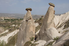 Fairy chimneys and balancing rocks Stock Photos