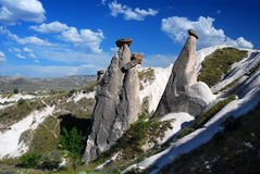 Fairy chimneys in Cappadocia Stock Image