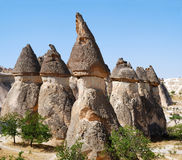 Fairy chimneys in Cappadocia Stock Images