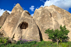 Fairy chimneys in Cappadocia, Turkey Royalty Free Stock Photos