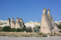 Fairy chimneys in Cappadocia Royalty Free Stock Photos