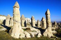 Fairy chimneys in Cappadocia, Turkey Royalty Free Stock Photo