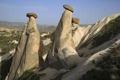 Fairy chimneys Cappadocia,Turkey Royalty Free Stock Photo