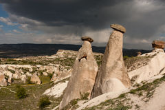 Fairy chimneys of Cappadocia Stock Images