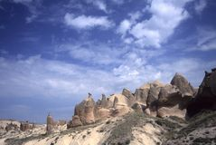 Fairy chimneys in eroded badla Royalty Free Stock Image