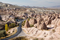 Fairy chimneys landscape in Cappadocia Royalty Free Stock Image