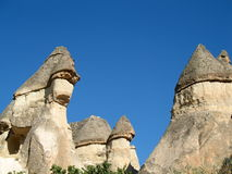 Fairy chimneys near Goreme, Cappadocia, Turkey Stock Images