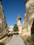 Fairy chimneys near Goreme, Cappadocia, Turkey Royalty Free Stock Images
