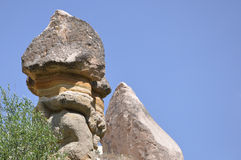 Fairy Chimneys - Red Rose Valley, Goreme, Cappadocia, Turkey Stock Photo