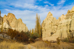 Fairy chimneys rock formation in Cappadocia Stock Photography