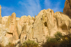 Fairy chimneys rock formation in Cappadocia Royalty Free Stock Photography