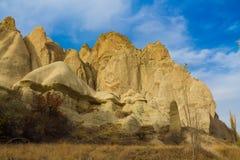 Fairy chimneys rock formation in Cappadocia Royalty Free Stock Image