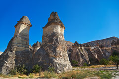 Fairy chimneys (rock formations) at Cappadocia Turkey Royalty Free Stock Photo