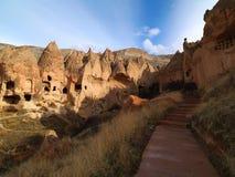 Fairy Chimneys in Zelve Valley at Cappadocia, Turkey Royalty Free Stock Images