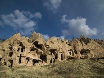 Fairy Chimneys in Zelve Valley at Cappadocia, Turkey Royalty Free Stock Photography