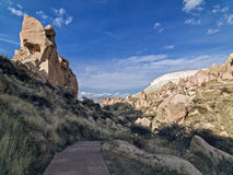 Fairy Chimneys in Zelve Valley at Cappadocia, Turkey Royalty Free Stock Photo