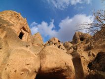 Fairy Chimneys in Zelve Valley at Cappadocia, Turkey Stock Images