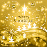 Fairy Christmas background with wish of Merry Christmas! Royalty Free Stock Photos