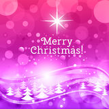 Fairy Christmas background with wish of Merry Christmas! Stock Photos