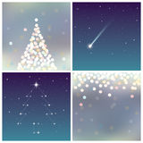 Fairy Christmas Backgrounds set. Vector Illustration. Fairy Christmas Backgrounds set Stock Photos