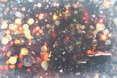 Fairy Christmas composition. Postcard card for the new year. The Royalty Free Stock Photography