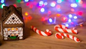 Fairy Christmas house cake Royalty Free Stock Photo