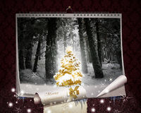 Fairy Christmas Night. Wall Calendar Royalty Free Stock Images