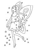 Fairy Coloring Page. Line art children illustration suitable as a coloring sheet Royalty Free Stock Images