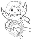 Fairy coloring page Stock Photos