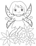 Fairy coloring page Royalty Free Stock Photo