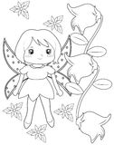 Fairy coloring page Stock Photography