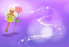 Fairy con il fiore illustrazione vettoriale