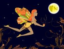 Fairy con il fiore magico Fotografie Stock Libere da Diritti