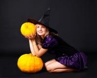 Fairy con le zucche Immagini Stock Libere da Diritti