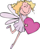 Fairy cor-de-rosa Fotografia de Stock Royalty Free
