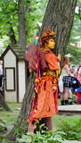 Fairy. A costumed actor enchants spectators at a Renaissance festival Royalty Free Stock Image