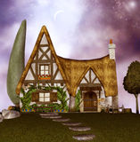 Fairy Cottage. Fantasy background for your artistic creations and/or projects Royalty Free Stock Photo