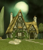 Fairy Cottage. Fantasy background for your artistic creations and/or projects Stock Images