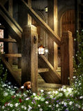 Fairy Cottage Garden Stairs Royalty Free Stock Image