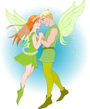Fairy Couple on a romantic fly Stock Images