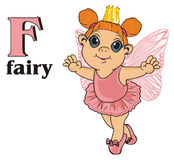 Fairy with crown and letters Royalty Free Stock Photos