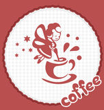 The fairy with a cup of coffee Stock Photo