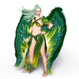 Fairy. 3D CG rendering of a fairy Royalty Free Stock Images