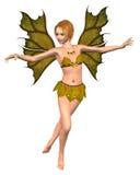 Fairy da folha do outono - dança ilustração do vetor