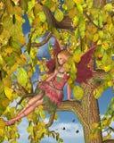 Fairy del fiore dell'albero della sorgente Immagine Stock Libera da Diritti